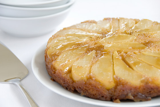 Upside Down Apple Cake With Caramel Sauce