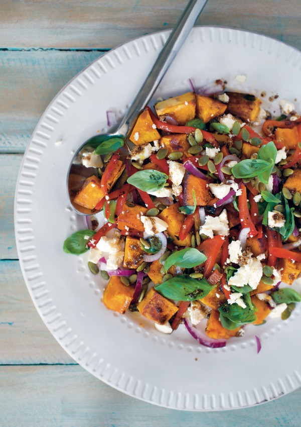 Roast Pumpkin Salad Foodlovers Helen Jackson