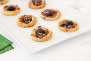 Foodlovers website, Helen Jackson. Recipes. caramelised onion pastry puffs. Photos by Carolyn Robertson