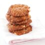 Foodlovers website recipes, Helen Jackson, Christmas baking and summer food. Macadamia and mango Anzacs. Photos by Carolyn Robertson