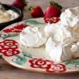snowy white meringues