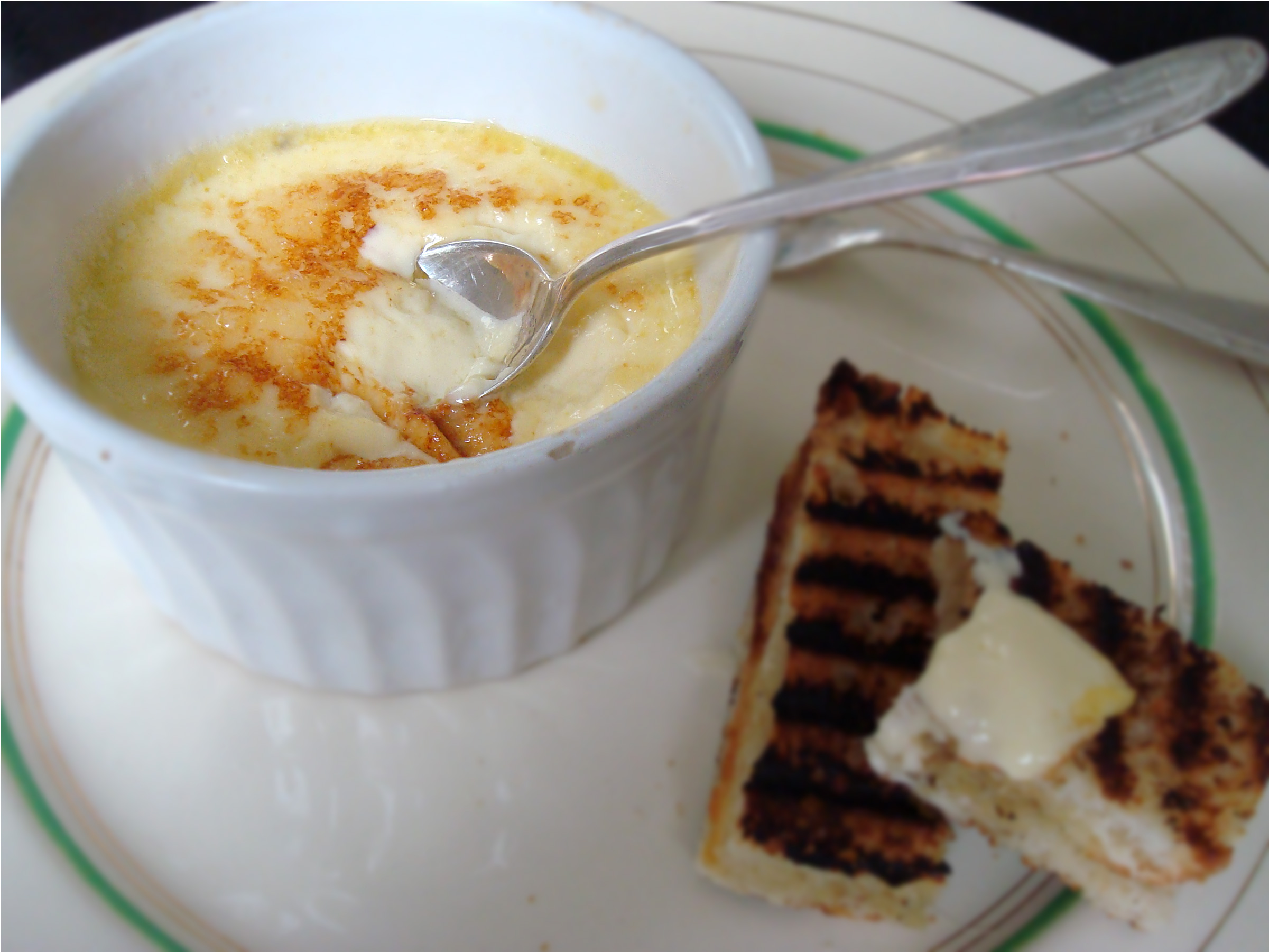 Parmesan custard and anchovy toast