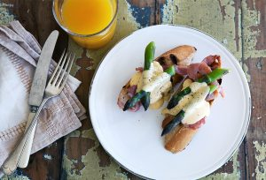 Asparagus, bacon and hollandaise