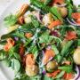 Smoked salmon, beans and potato salad