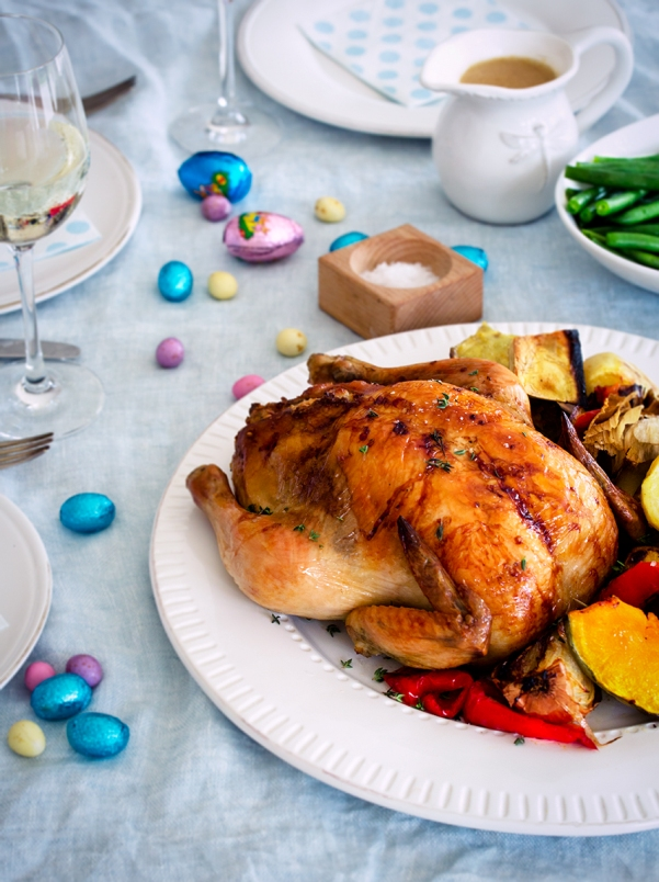 Roast Chicken, Easter Dinner