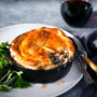 Chicken, mushroom and bacon pie Helen Jackson Foodlovers
