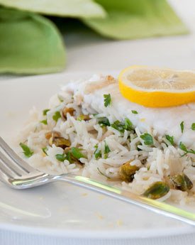 Pan Fried Fish With Pilaf