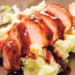 Balsamic Glazed Chicken with Spring Onion Mash