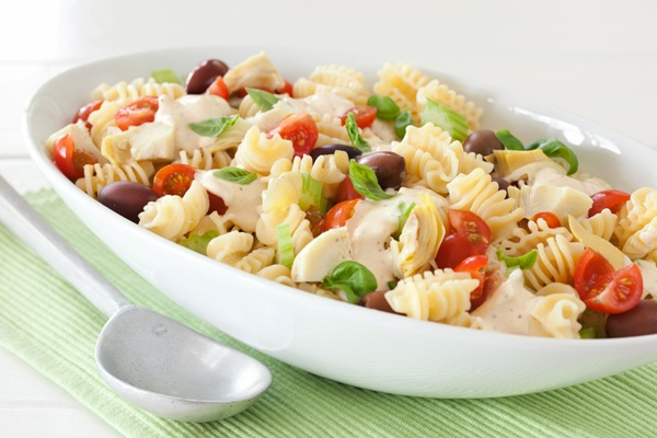 Foodlovers website, Helen Jackson recipes and food. Pasta salad. Photos by Carolyn Robertson