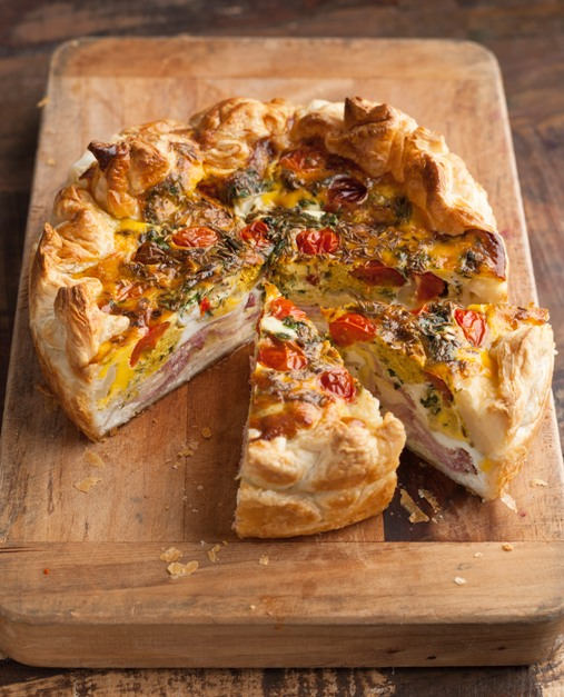 Pg 54 Bacon Curried Egg  Ricotta Pie
