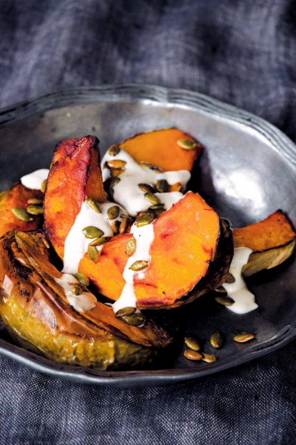 Roast pumpkin with tahini dressing (1)